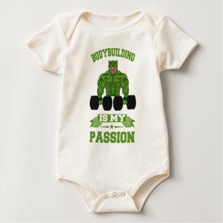 Bodybuilding Is My passion Bodybuilder Gym Baby Bodysuit