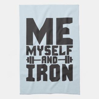 Bodybuilding Motivation - Me, Myself and Iron Kitchen Towel