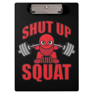 Bodybuilding - Shut Up And Squat - Kawaii Leg Day Clipboard