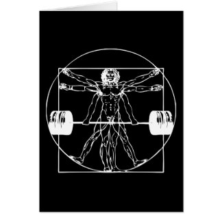 Bodybuilding - Vitruvian Barbell Man Card