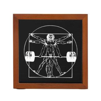 Bodybuilding - Vitruvian Barbell Man Desk Organizer