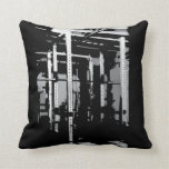 Bodybuilding Workout Picture- Squat Rack Throw Pillow