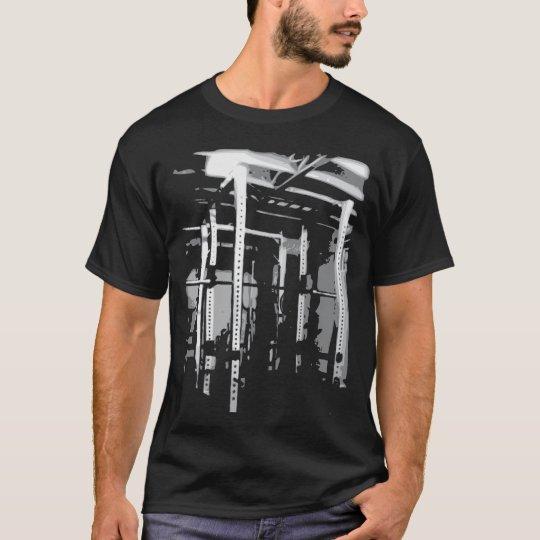 Bodybuilding Workout Picture- Squat Rack T-Shirt