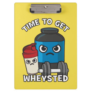 Bodybuilding Workout - Time To Get Wheysted Clipboard