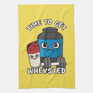 Bodybuilding Workout - Time To Get Wheysted Kitchen Towel