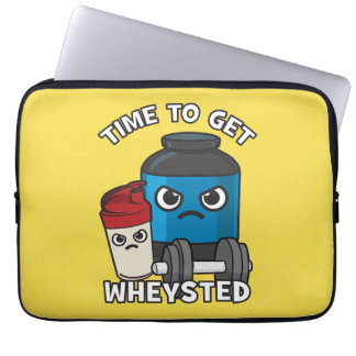 Bodybuilding Workout - Time To Get Wheysted Laptop Sleeve
