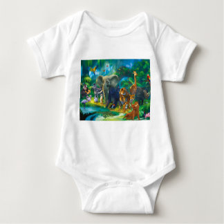 Bodystocking baby animals of the jungle baby bodysuit