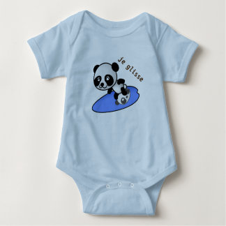 bodystocking baby panda surfing baby bodysuit