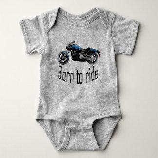 "Bodystocking gray baby ""Born to wrinkle"", blue Baby Bodysuit"