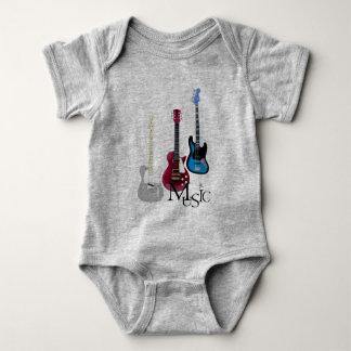 """Bodystocking gray baby """"Guitars and Music """" Baby Bodysuit"""