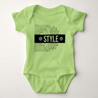 "Bodystocking green baby ""Style"", black and white Baby Bodysuit"