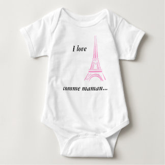Bodystocking I coils Paris like mom Baby Bodysuit