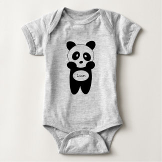 Bodystocking in jersey for baby, Panda baby Baby Bodysuit