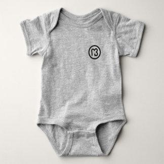 Bodystocking logo black macaroon baby bodysuit