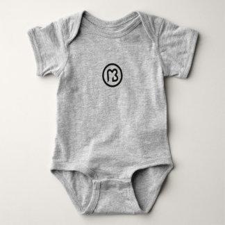 Bodystocking with logo black macaroon baby bodysuit