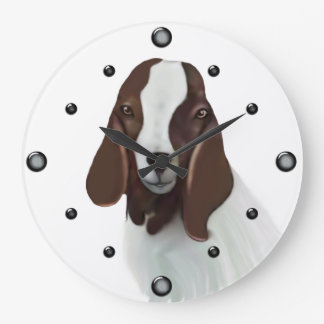 Boer Goat Painting  Wall Clock