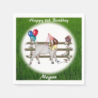 Boer Goat Personalized  Birthday Party Napkins Paper Napkin