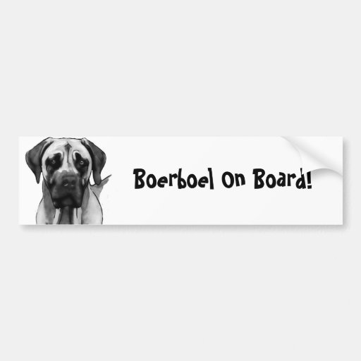 Boerboel Bumber Sticker Bumper Sticker
