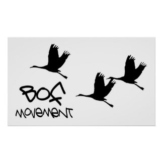 BOF Birds logo Poster