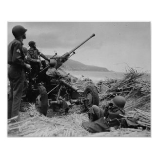 Bofors AA Gun Poster