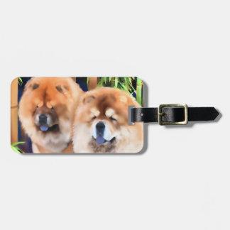 BOGIE & SPOOKY heARTdog chow Luggage Tag