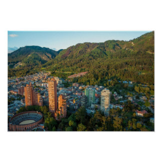 Bogota and the Andes Mountains Poster