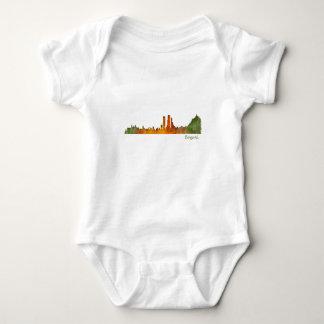 Bogota City Colombia Cundinamarca Skyline v01 Baby Bodysuit