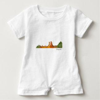 Bogota City Colombia Cundinamarca Skyline v01 Baby Romper