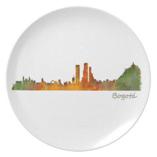 Bogota City Colombia Cundinamarca Skyline v01 Plate