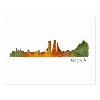 Bogota City Colombia Cundinamarca Skyline v01 Postcard