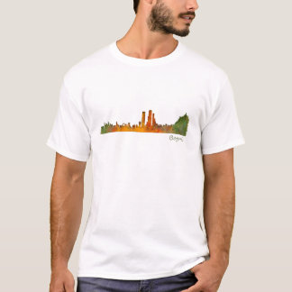 Bogota City Colombia Cundinamarca Skyline v01 T-Shirt