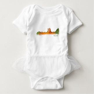 Bogota City Colombia Cundinamarca Skyline v02 Baby Bodysuit
