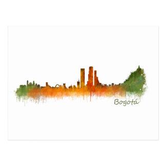 Bogota City Colombia Cundinamarca Skyline v02 Postcard