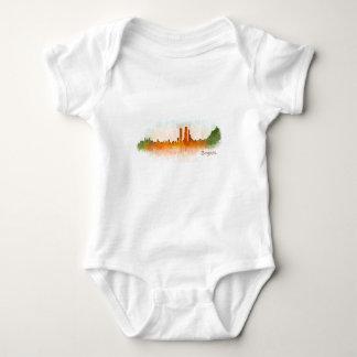 Bogota City Colombia Cundinamarca Skyline v03 Baby Bodysuit