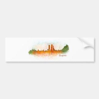 Bogota City Colombia Cundinamarca Skyline v03 Bumper Sticker