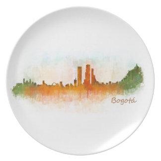 Bogota City Colombia Cundinamarca Skyline v03 Plate
