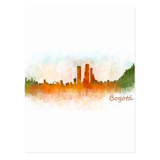 Bogota City Colombia Cundinamarca Skyline v03 Postcard