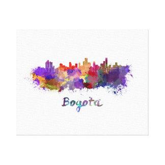 Bogota skyline in watercolor canvas print