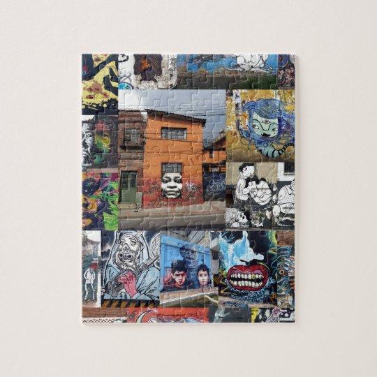 Bogota street art mural montage jigsaw puzzle
