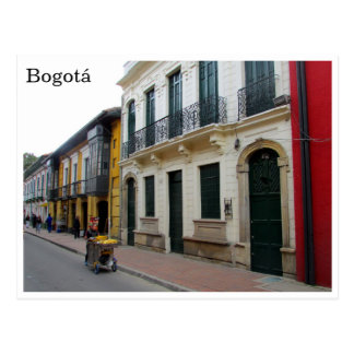 bogota streets postcard