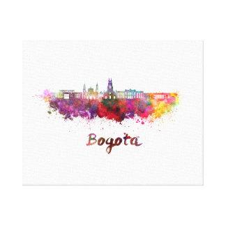 Bogota v2 skyline in watercolor canvas print