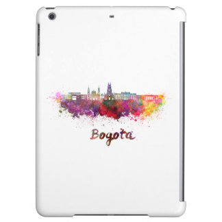 Bogota v2 skyline in watercolor iPad air cover