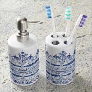 Bohem Blue Bathroom Set
