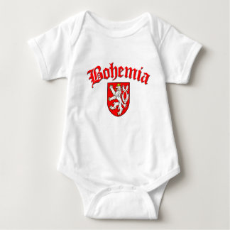 Bohemia Flag 1 (w/inscription) Baby Bodysuit