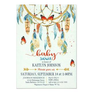Bohemian American Indian Dream Catcher Baby Shower Card