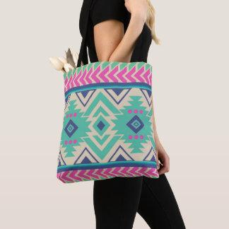 Bohemian Aztec Colorful Tribal Pattern Tote Bag