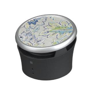 Bohemian Blue Flower Bluetooth Speaker