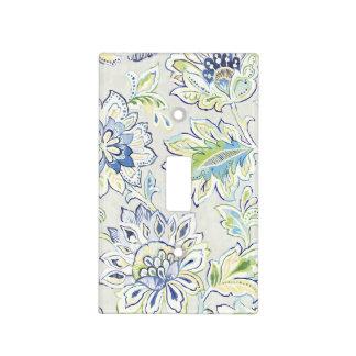 Bohemian Blue Flower Light Switch Cover