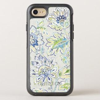Bohemian Blue Flower OtterBox Symmetry iPhone 7 Case