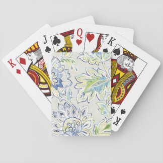 Bohemian Blue Flower Playing Cards
